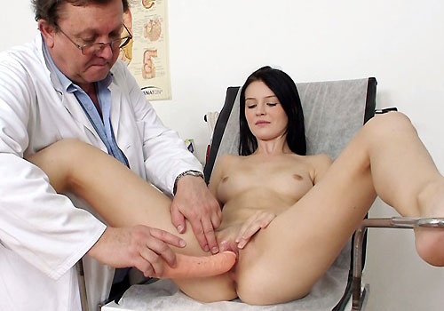 image Doctor examines boys penis and cums and