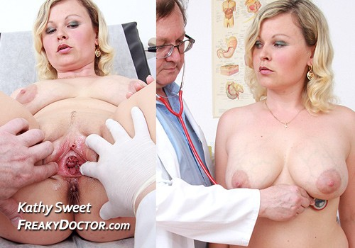 Kathy a busty blonde babe in great doctor porn HD video